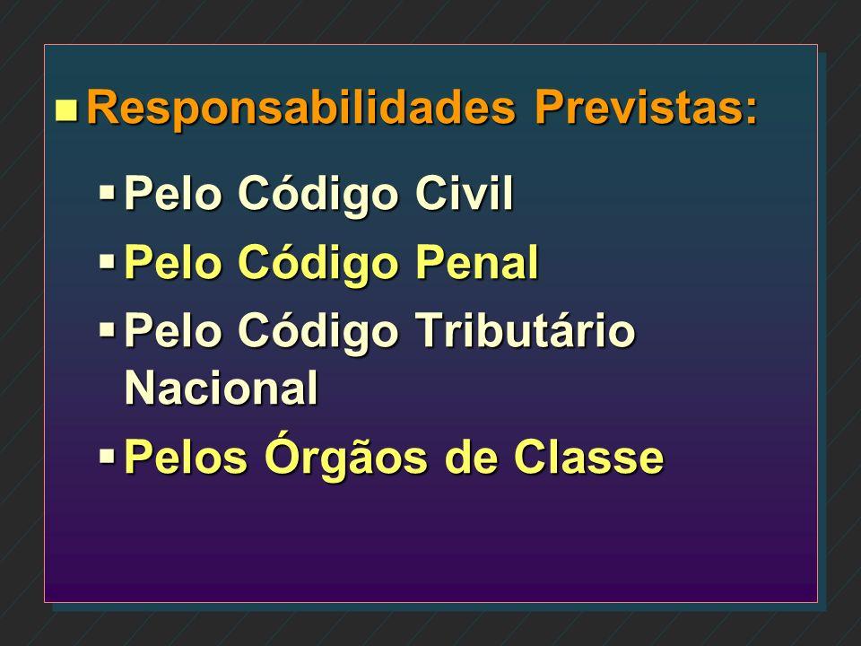 Responsabilidades Previstas: