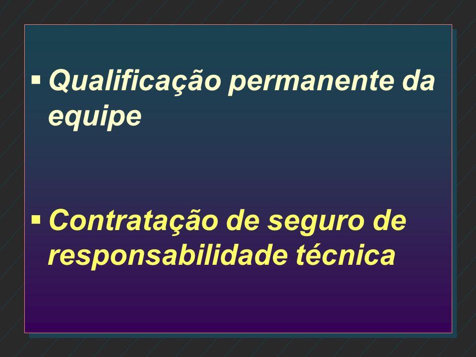 Qualificação permanente da equipe