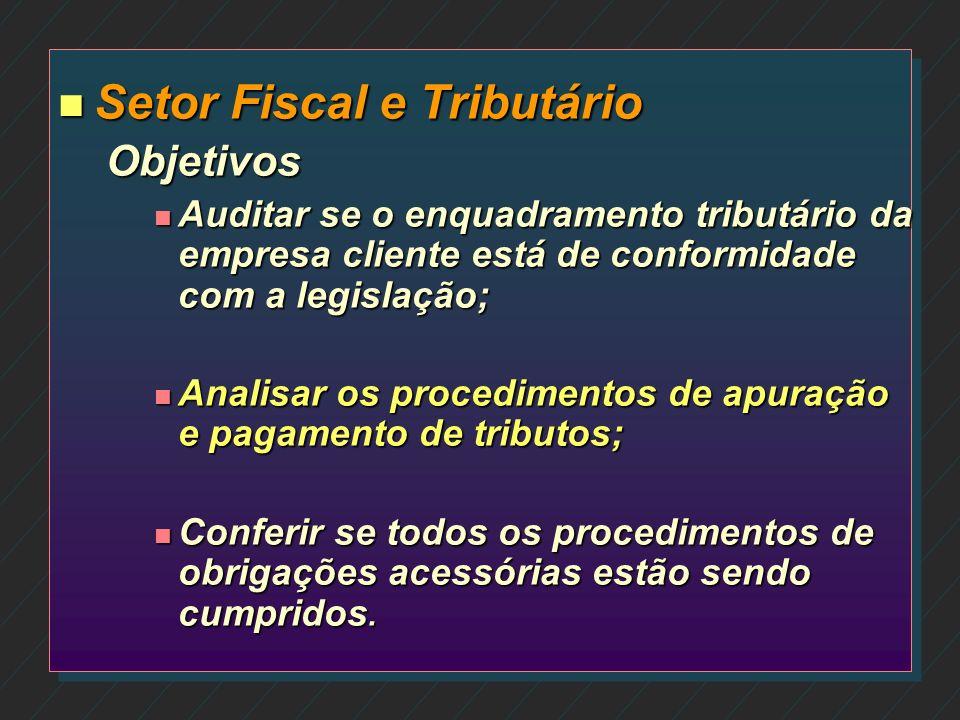 Setor Fiscal e Tributário