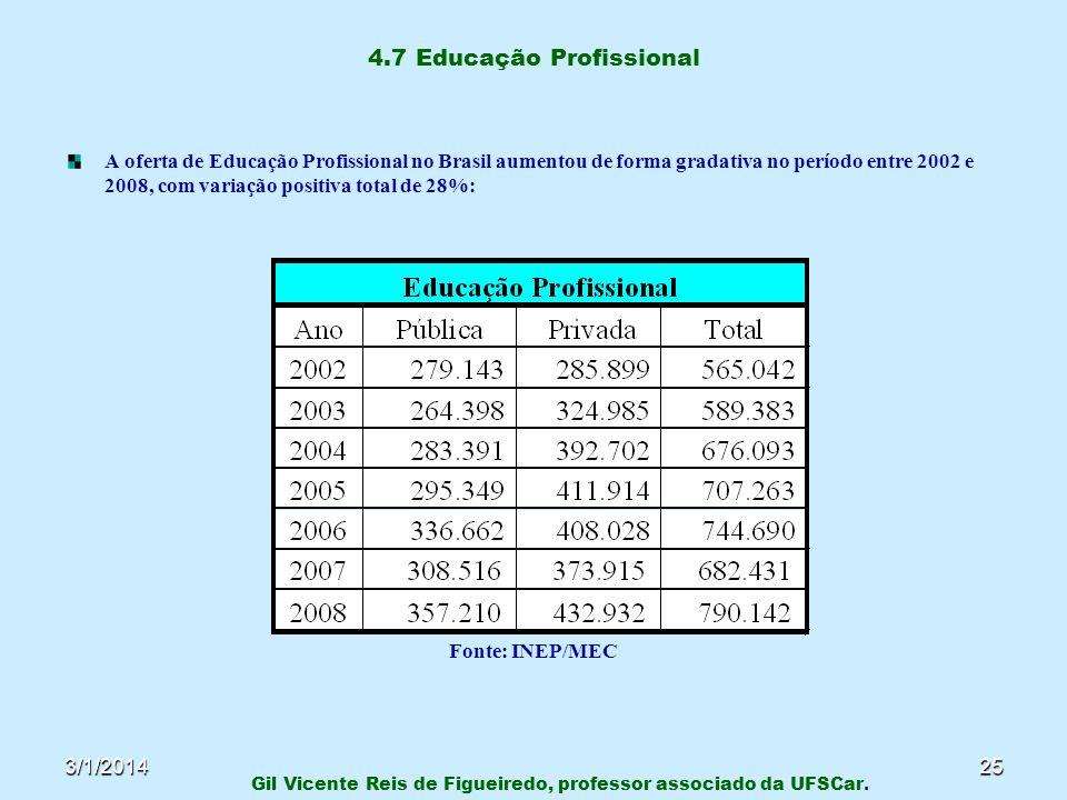 4.7 Educação Profissional