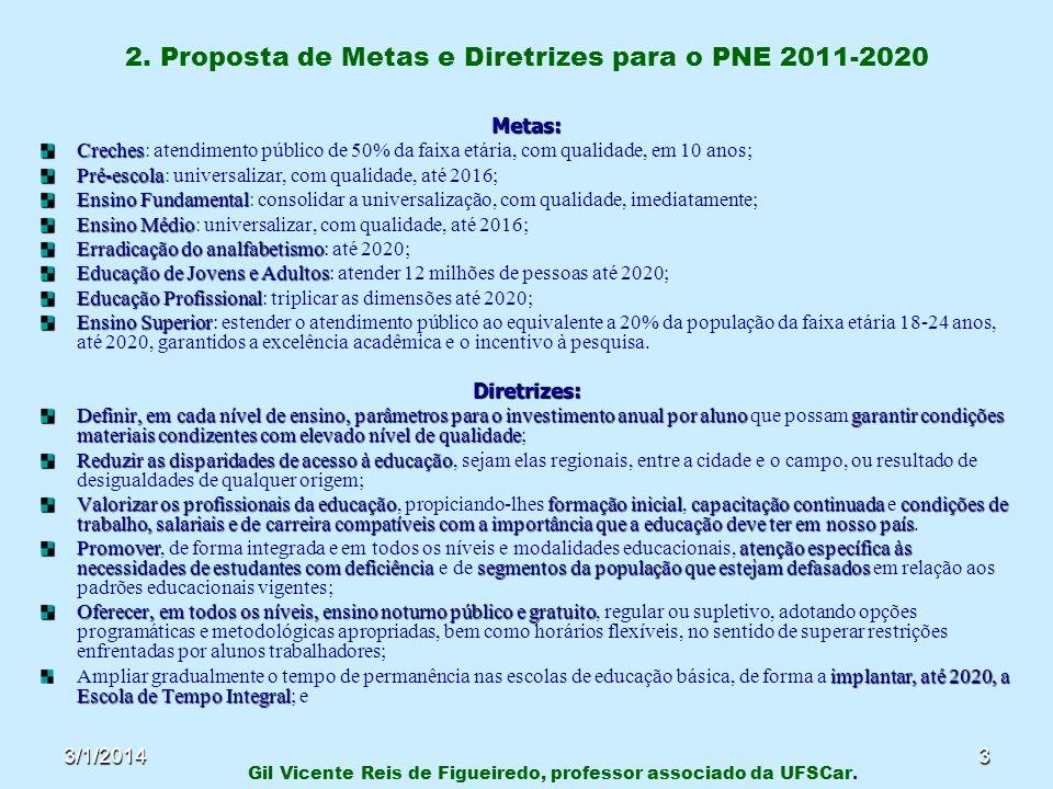 2. Proposta de Metas e Diretrizes para o PNE 2011-2020