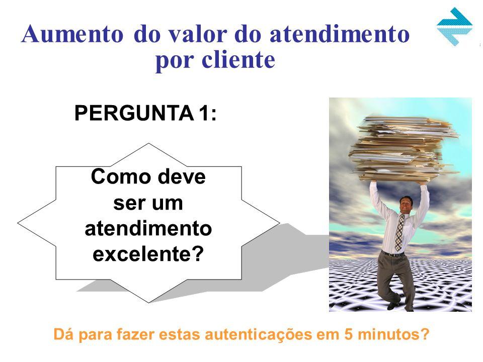 Aumento do valor do atendimento por cliente