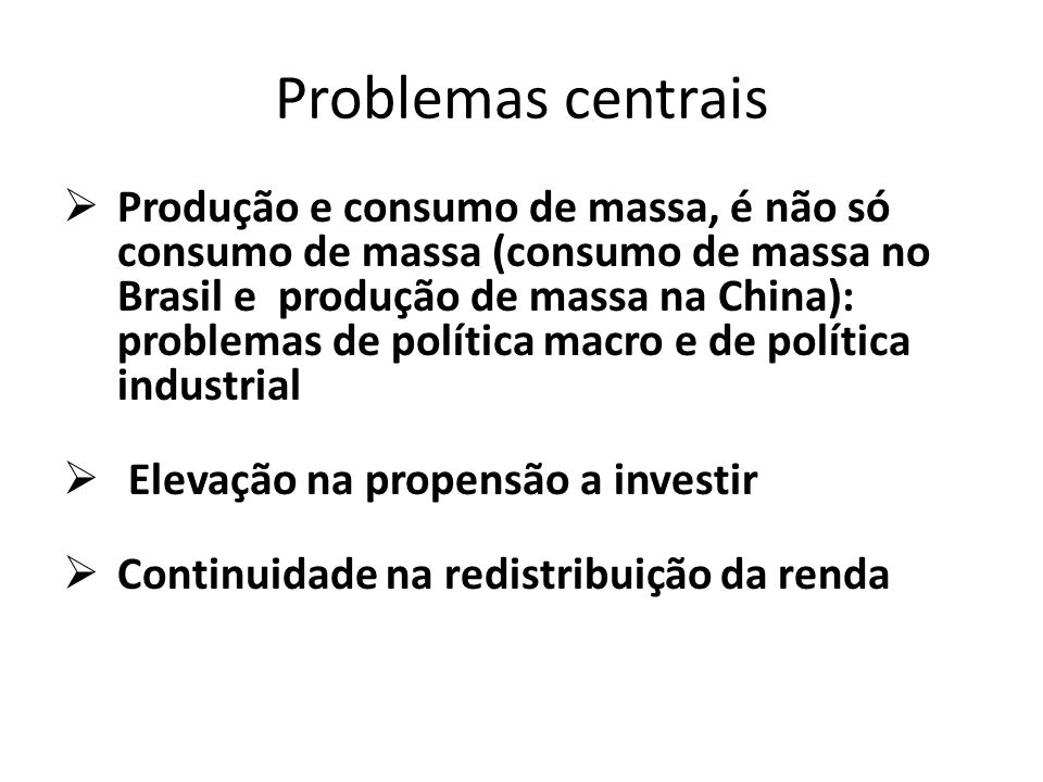 Problemas centrais