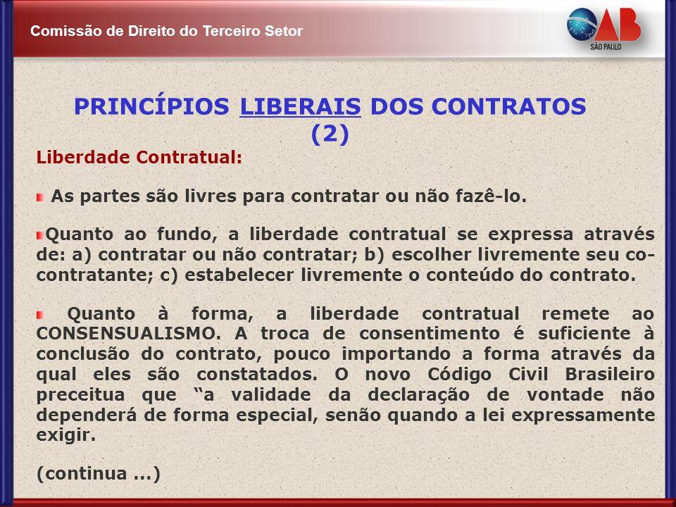 PRINCÍPIOS LIBERAIS DOS CONTRATOS (2)