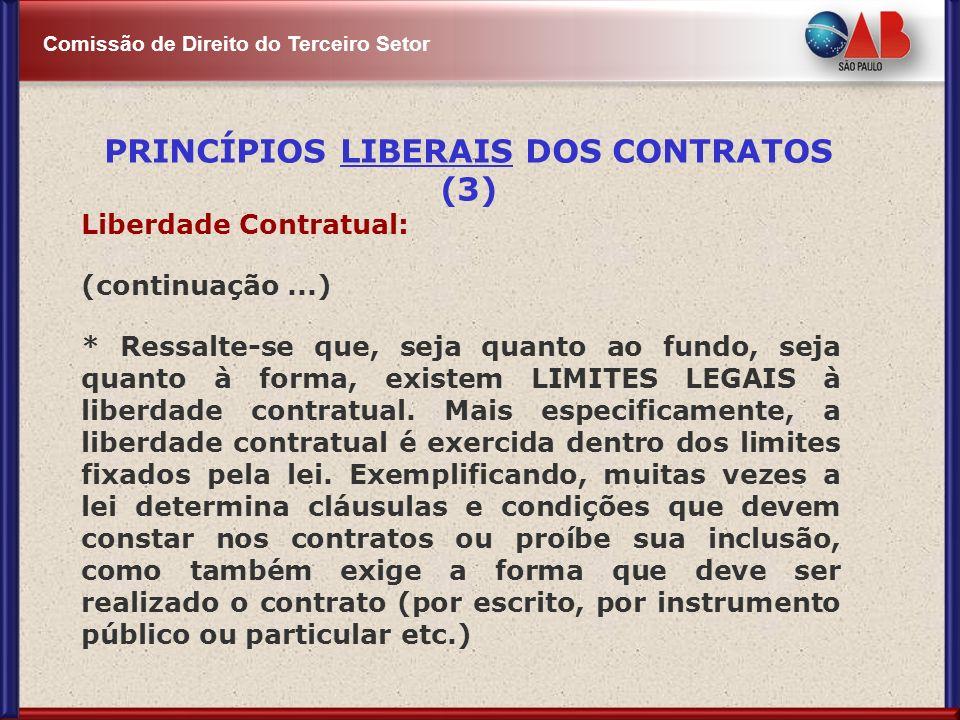 PRINCÍPIOS LIBERAIS DOS CONTRATOS (3)