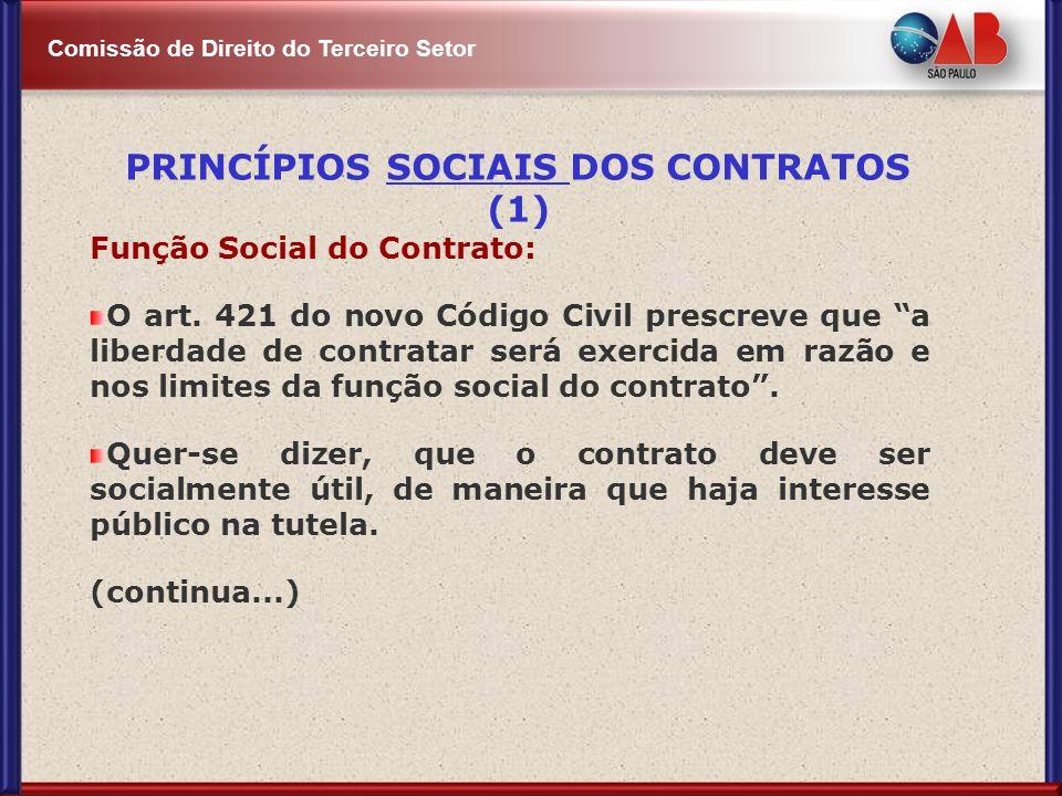 PRINCÍPIOS SOCIAIS DOS CONTRATOS (1)