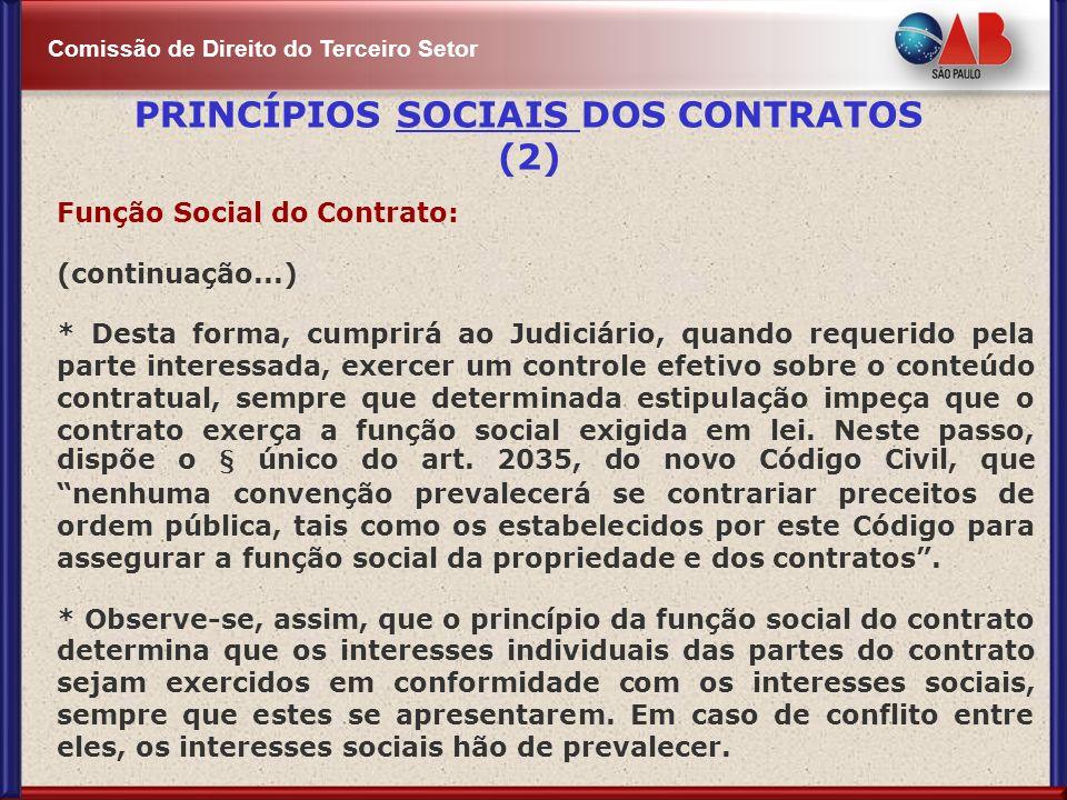 PRINCÍPIOS SOCIAIS DOS CONTRATOS (2)