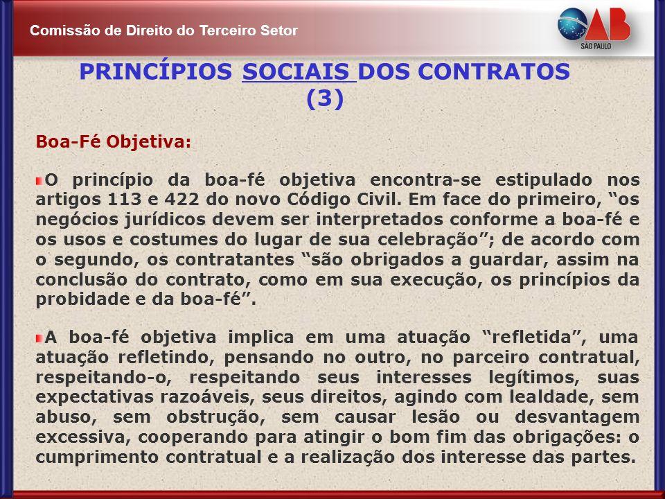 PRINCÍPIOS SOCIAIS DOS CONTRATOS (3)