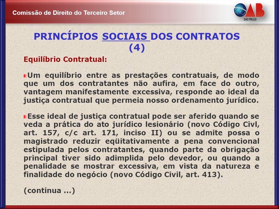 PRINCÍPIOS SOCIAIS DOS CONTRATOS (4)