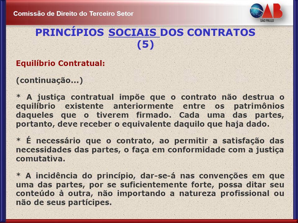 PRINCÍPIOS SOCIAIS DOS CONTRATOS (5)