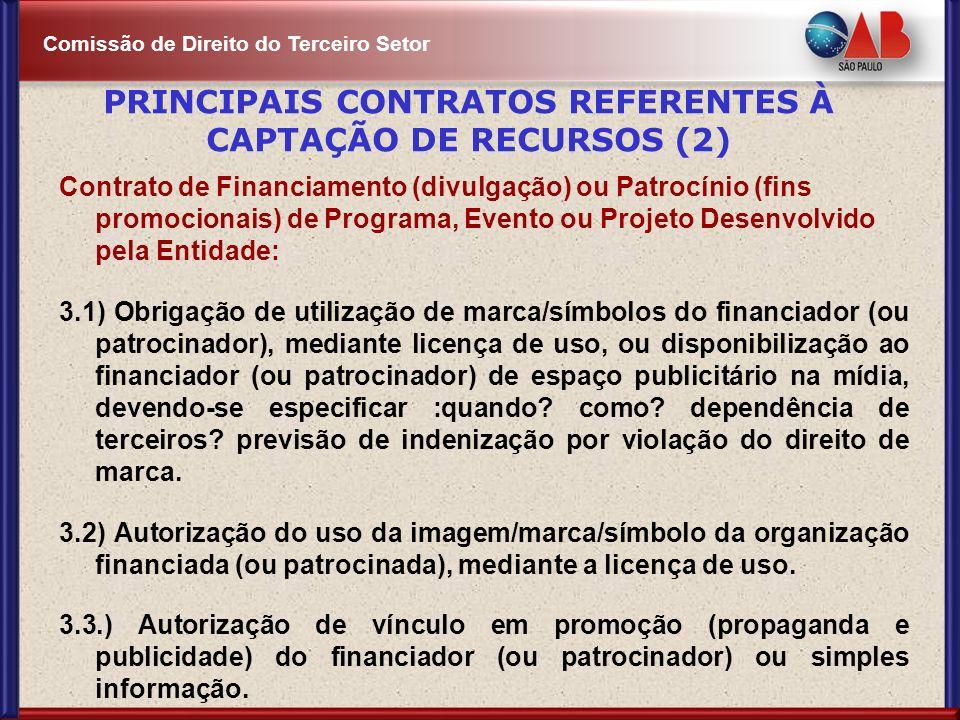 PRINCIPAIS CONTRATOS REFERENTES À CAPTAÇÃO DE RECURSOS (2)