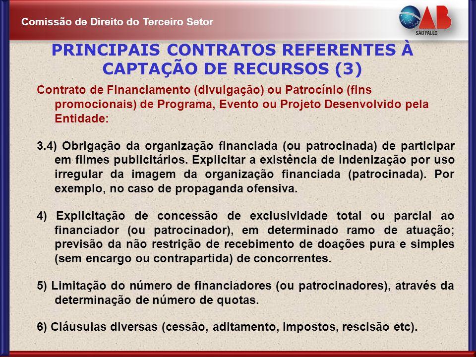 PRINCIPAIS CONTRATOS REFERENTES À CAPTAÇÃO DE RECURSOS (3)