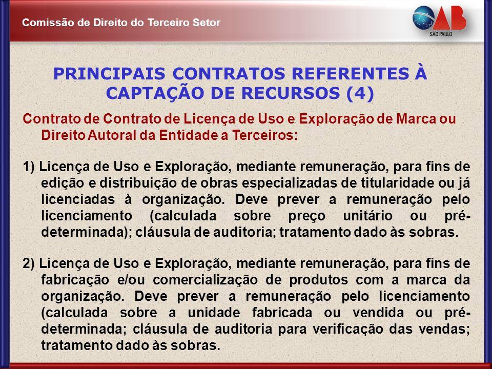PRINCIPAIS CONTRATOS REFERENTES À CAPTAÇÃO DE RECURSOS (4)