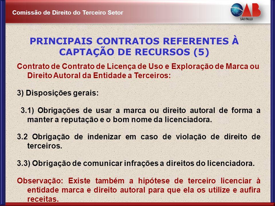 PRINCIPAIS CONTRATOS REFERENTES À CAPTAÇÃO DE RECURSOS (5)