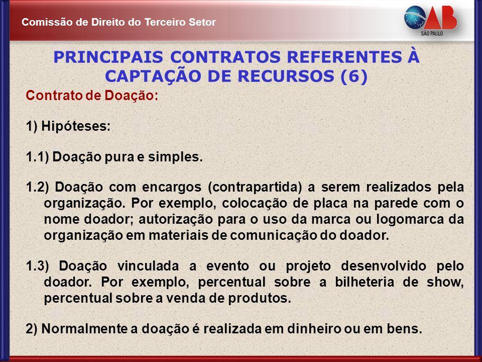 PRINCIPAIS CONTRATOS REFERENTES À CAPTAÇÃO DE RECURSOS (6)