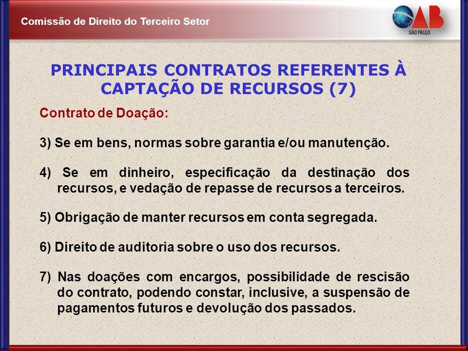 PRINCIPAIS CONTRATOS REFERENTES À CAPTAÇÃO DE RECURSOS (7)