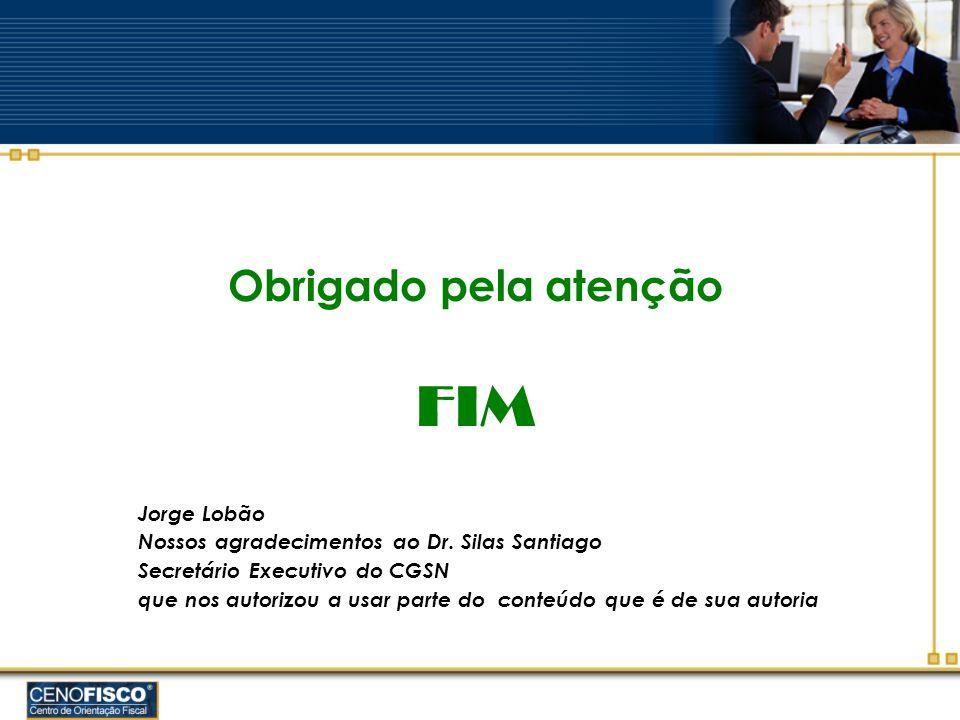 FIM Obrigado pela atenção Jorge Lobão
