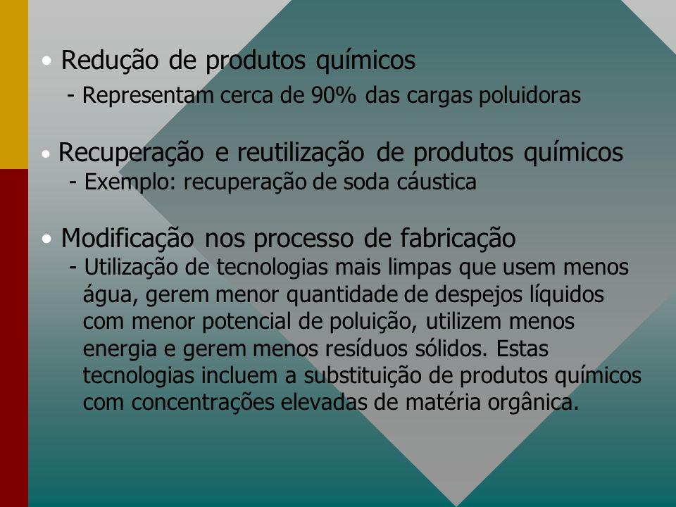 - Representam cerca de 90% das cargas poluidoras