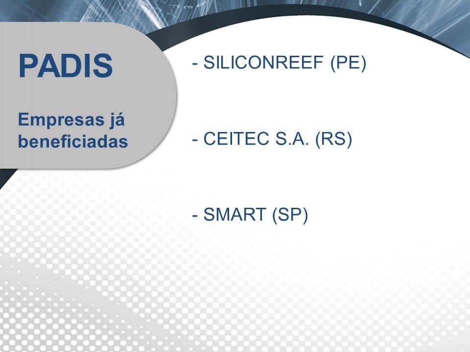 PADIS SILICONREEF (PE) Empresas já beneficiadas CEITEC S.A. (RS)