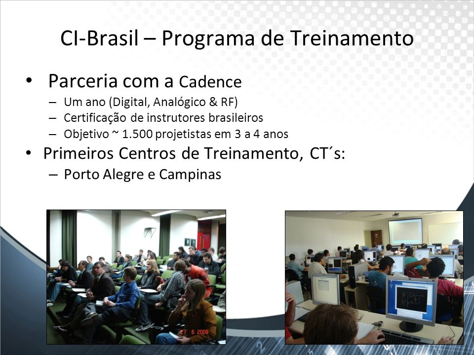 CI-Brasil – Programa de Treinamento