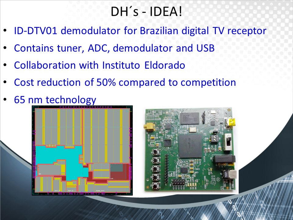DH´s - IDEA! ID-DTV01 demodulator for Brazilian digital TV receptor