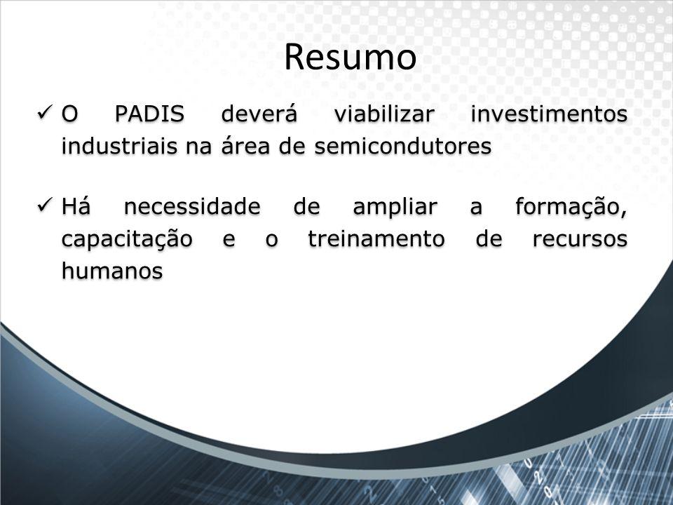 Resumo O PADIS deverá viabilizar investimentos industriais na área de semicondutores.
