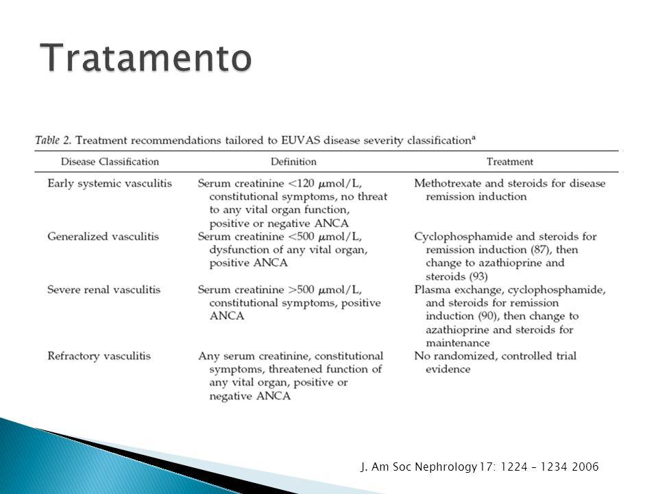 Tratamento J. Am Soc Nephrology 17: 1224 – 1234 2006