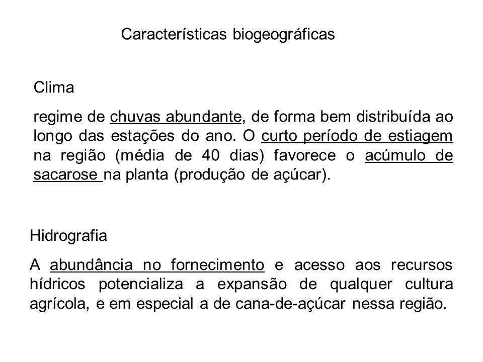 Características biogeográficas