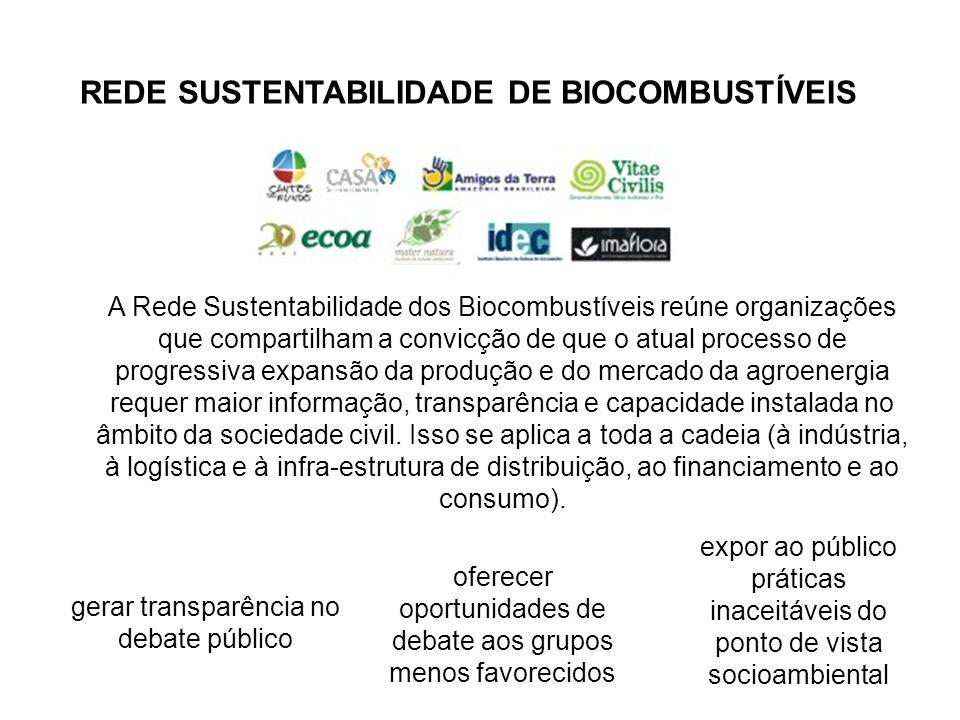 REDE SUSTENTABILIDADE DE BIOCOMBUSTÍVEIS