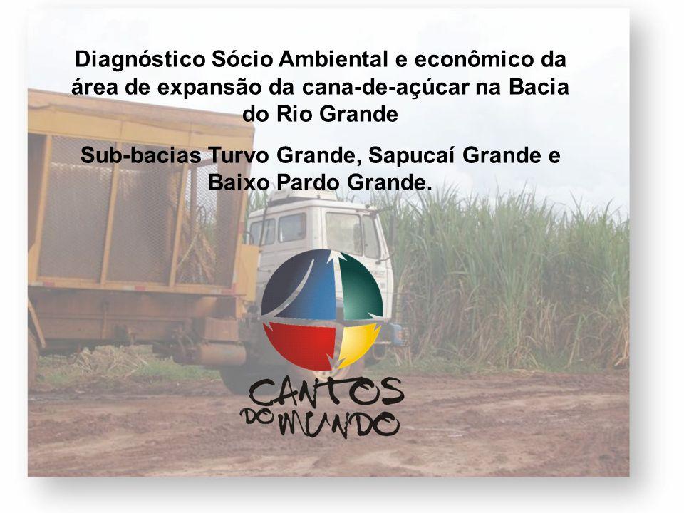 Sub-bacias Turvo Grande, Sapucaí Grande e Baixo Pardo Grande.