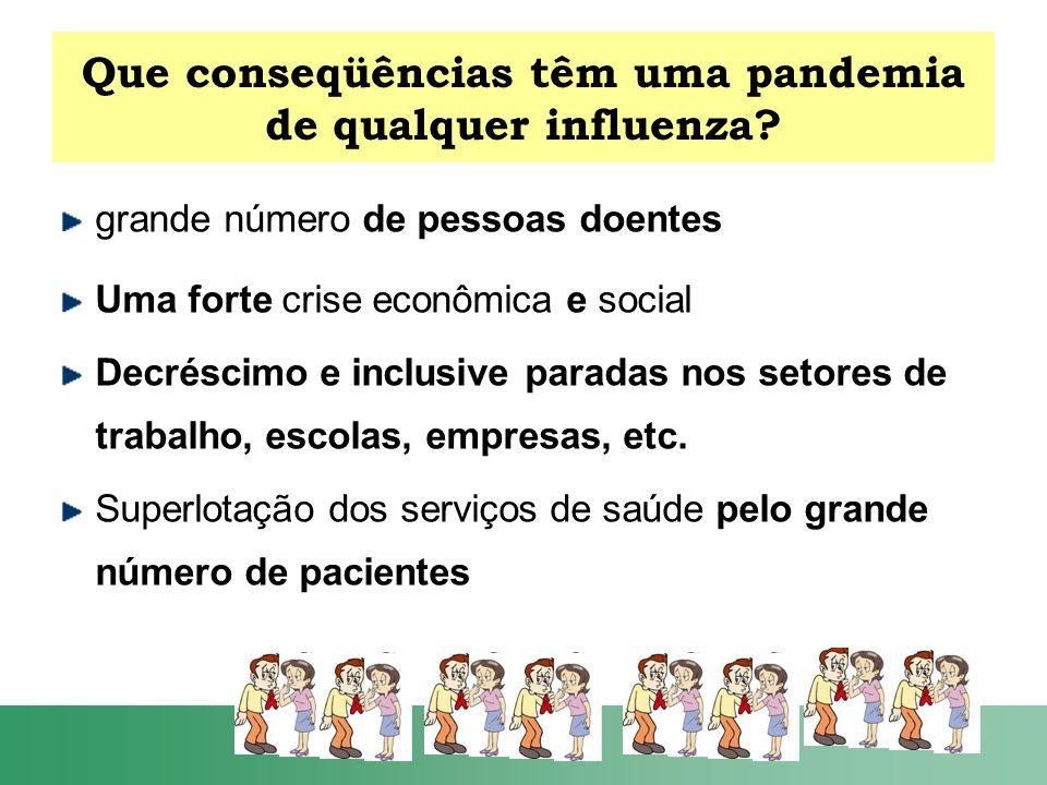 Que conseqüências têm uma pandemia de qualquer influenza
