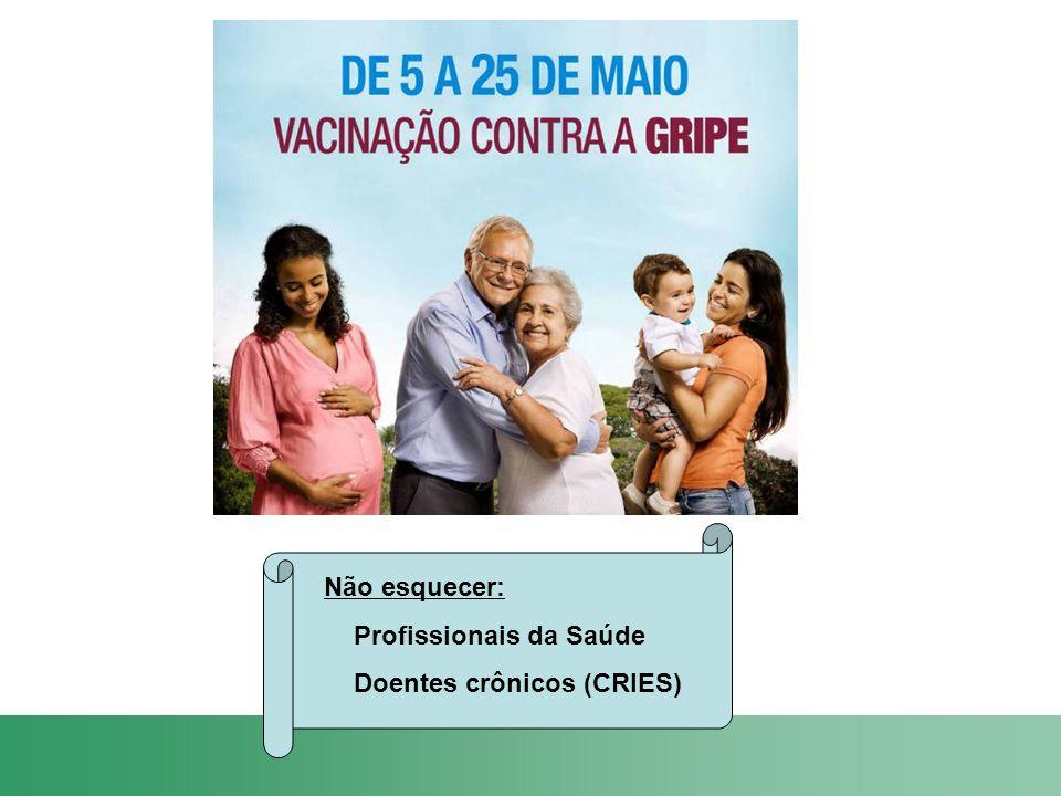 Não esquecer: Profissionais da Saúde Doentes crônicos (CRIES)
