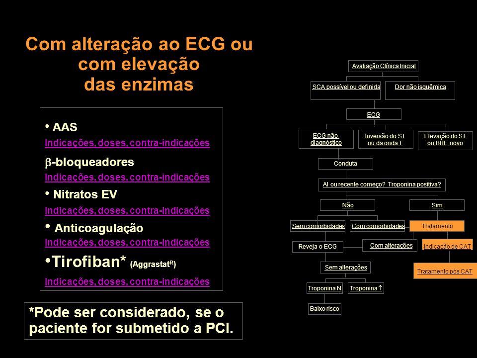Com alteração ao ECG ou com elevação