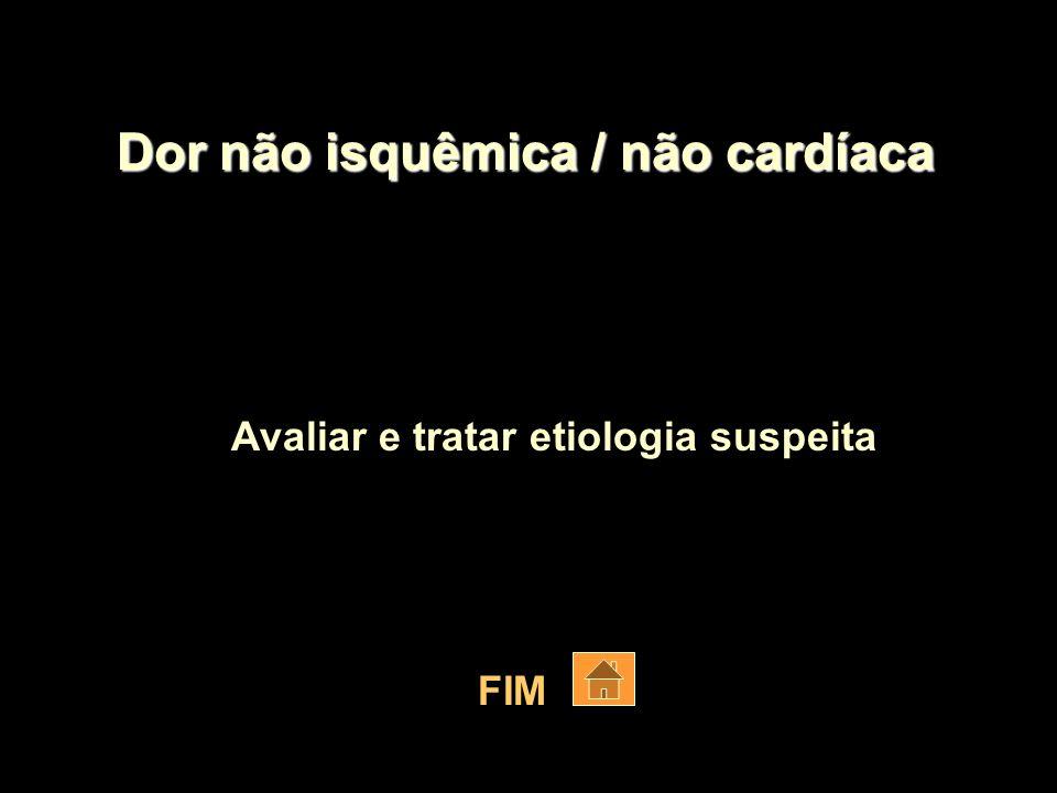 Dor não isquêmica / não cardíaca
