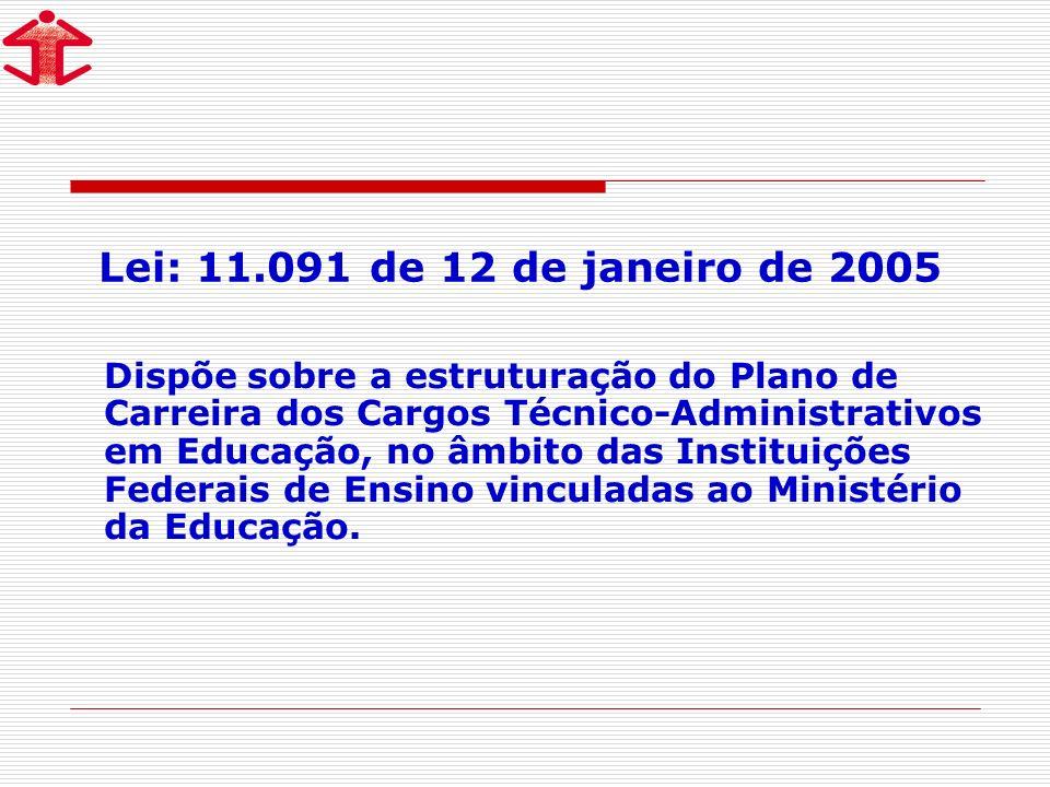 Lei: 11.091 de 12 de janeiro de 2005