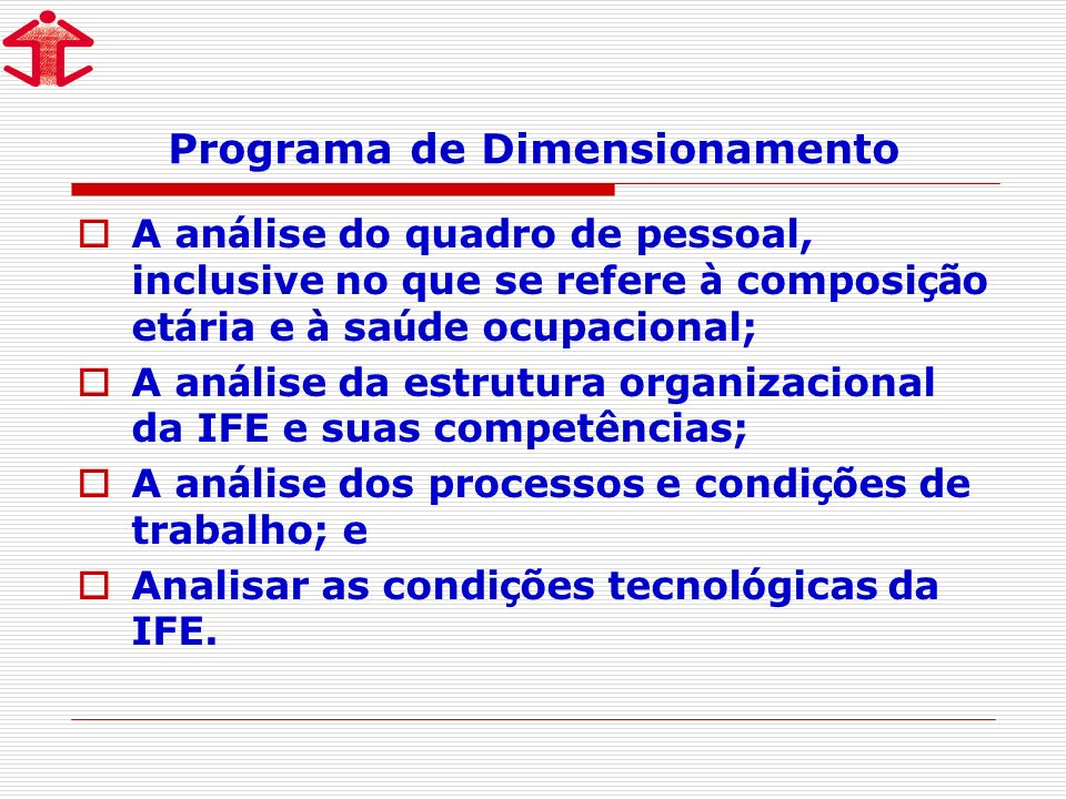 Programa de Dimensionamento