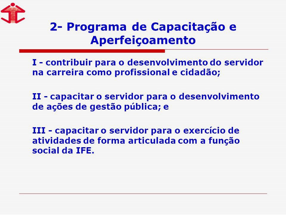 2- Programa de Capacitação e Aperfeiçoamento
