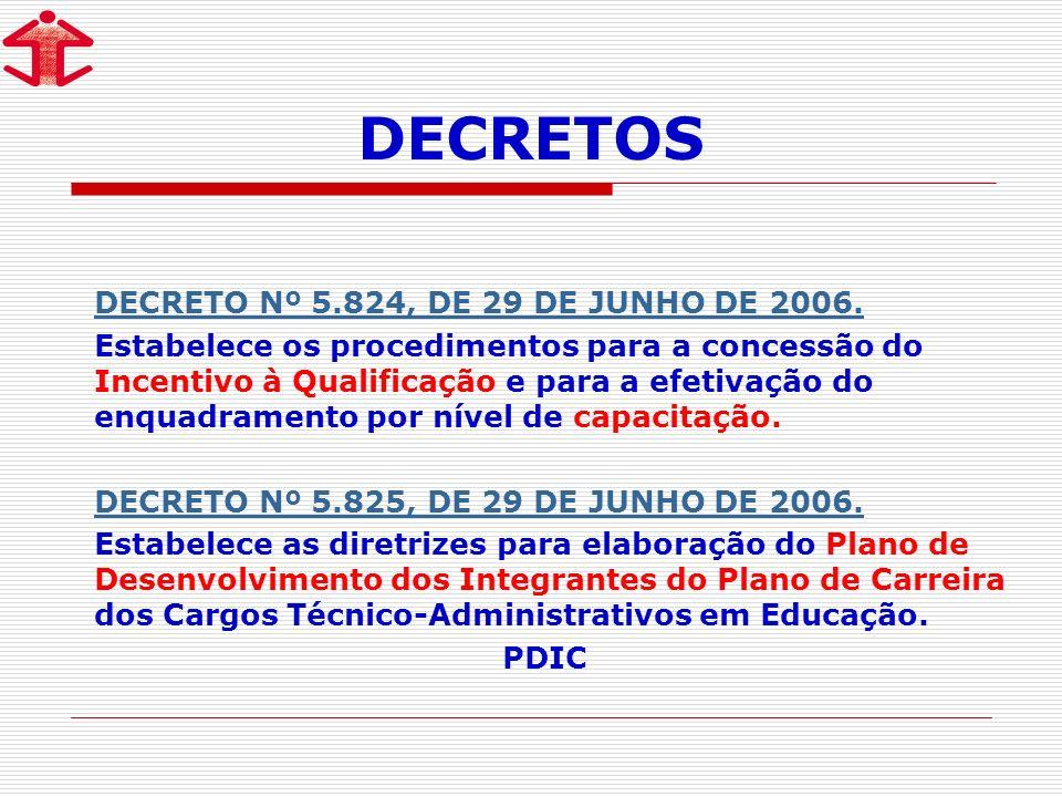 DECRETOS DECRETO Nº 5.824, DE 29 DE JUNHO DE 2006.