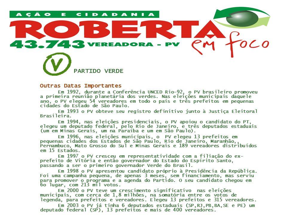 PARTIDO VERDEOutras Datas Importantes.