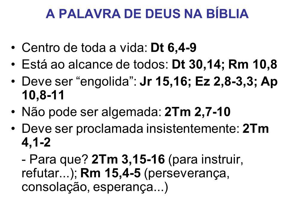 A PALAVRA DE DEUS NA BÍBLIA