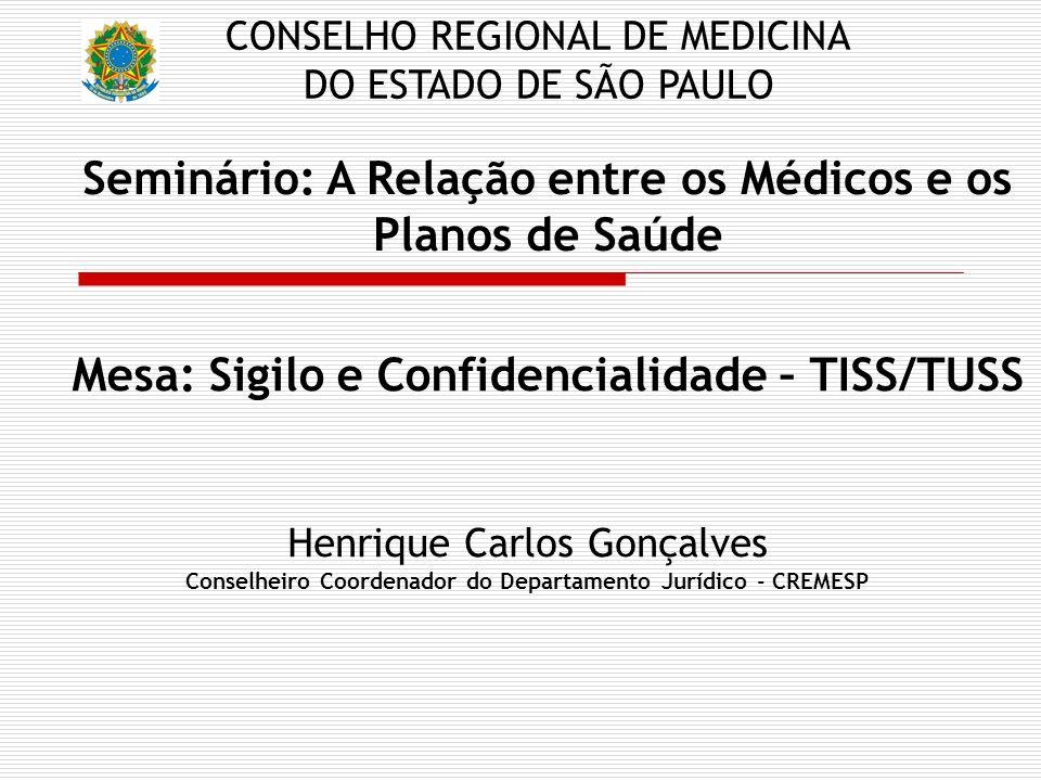 Seminário: A Relação entre os Médicos e os Planos de Saúde