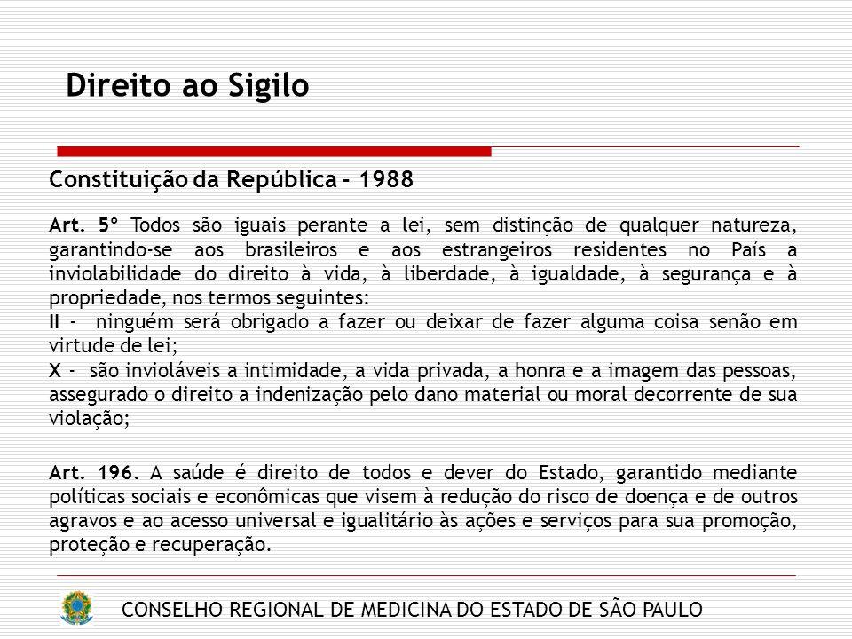 Direito ao Sigilo Constituição da República - 1988