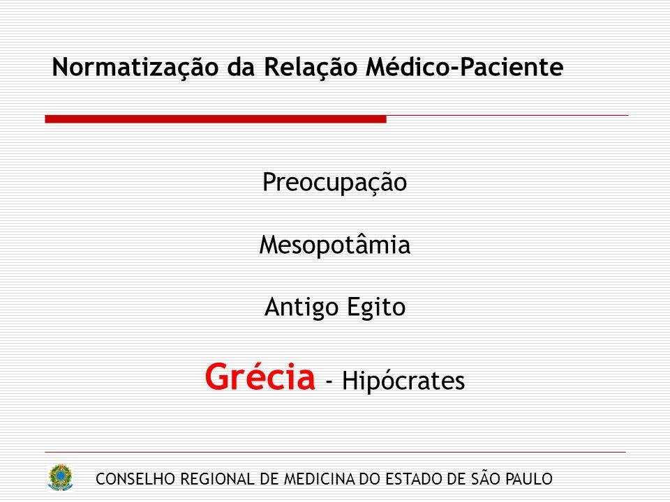 Grécia - Hipócrates Normatização da Relação Médico-Paciente