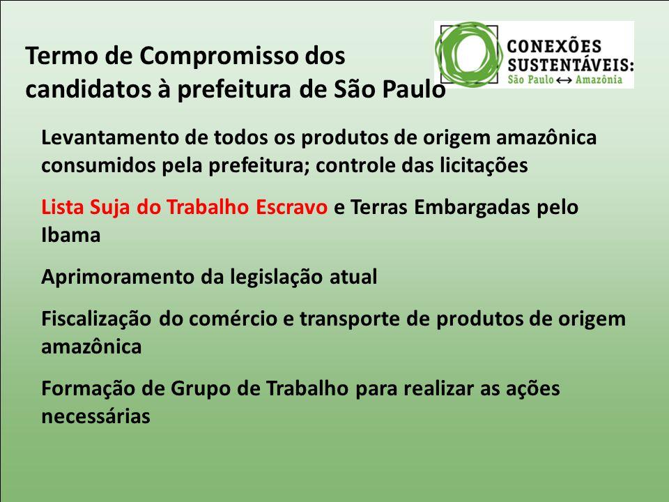 Termo de Compromisso dos candidatos à prefeitura de São Paulo