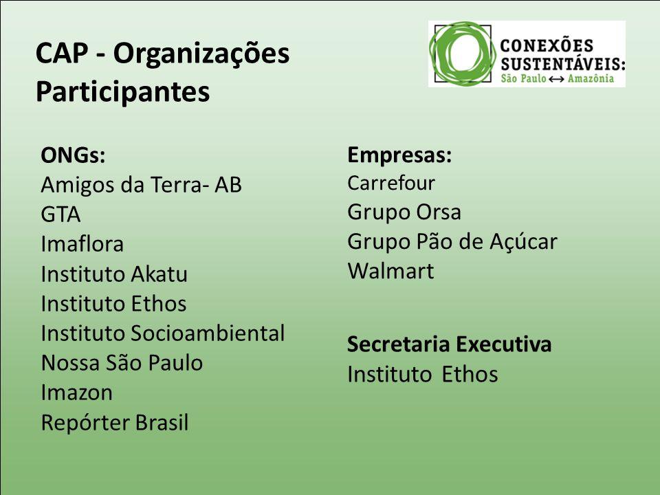 CAP - Organizações Participantes