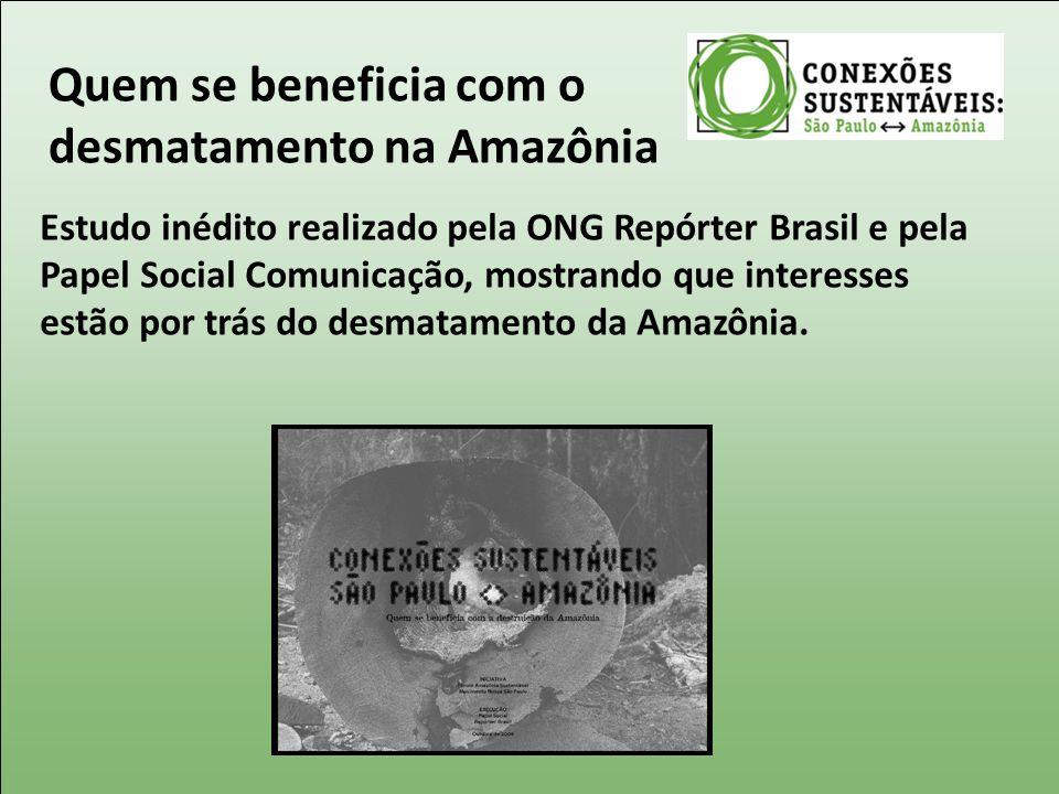 Quem se beneficia com o desmatamento na Amazônia
