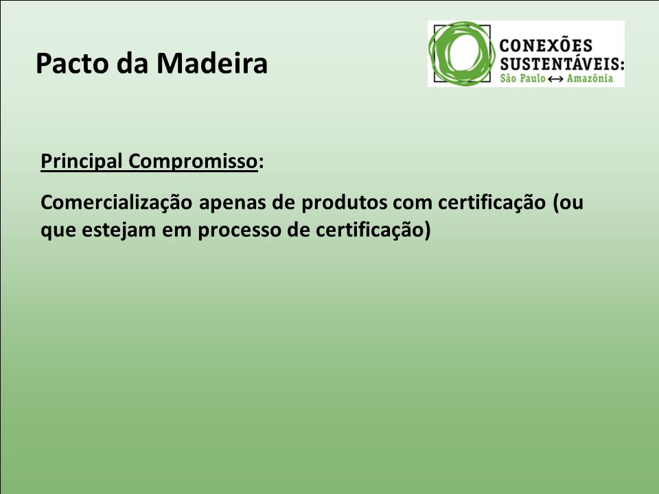 Pacto da Madeira Principal Compromisso: