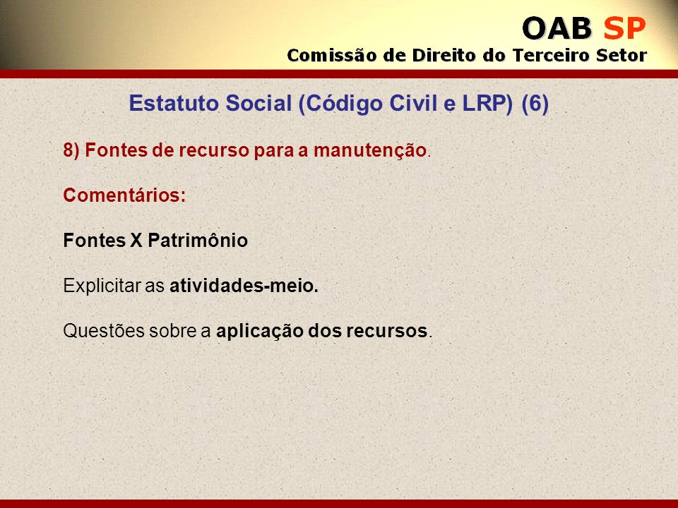 Estatuto Social (Código Civil e LRP) (6)