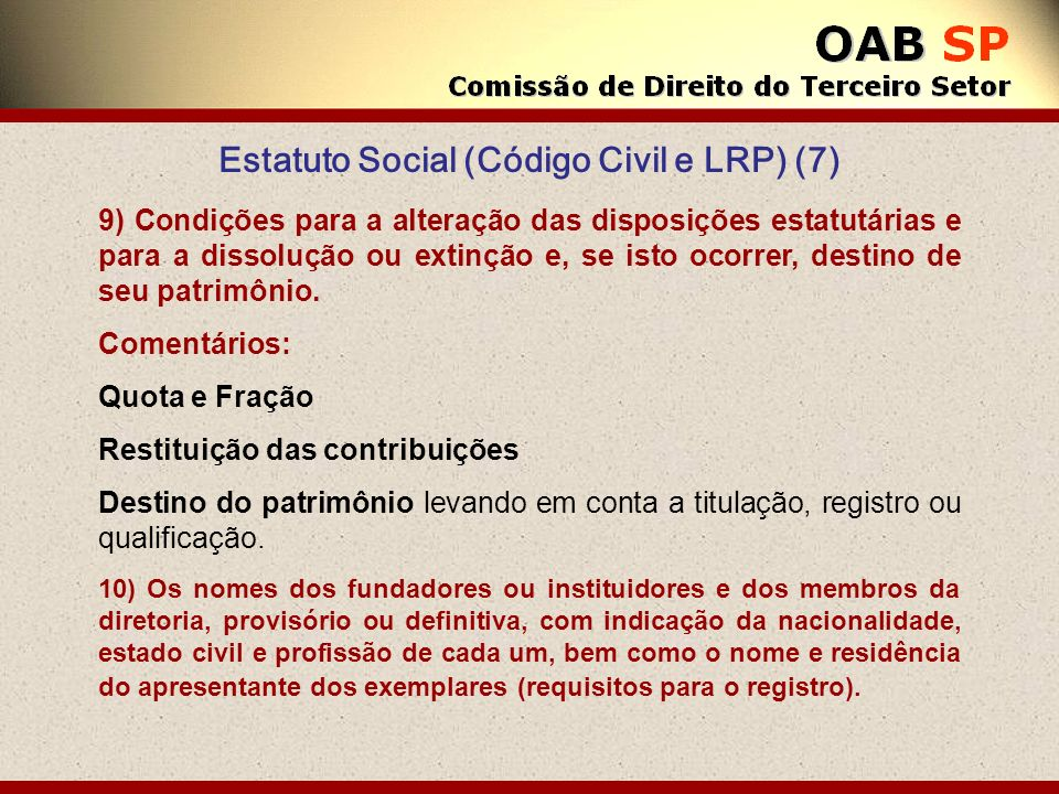 Estatuto Social (Código Civil e LRP) (7)