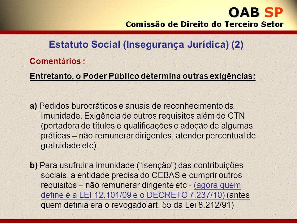 Estatuto Social (Insegurança Jurídica) (2)